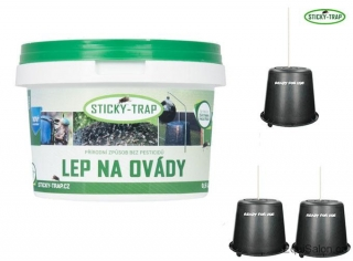 Sticky Trap Set - Lep 0,5 l + 3x kyblík
